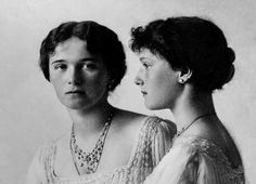 (1913) The Grand Duchesses Olga and Tatiana Nikolaevna of Russia