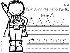 Handwriting Heroes {mini books and activity sheets to