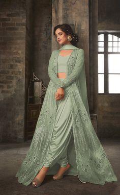 Beautiful Top Designer Salwar Suit Lehenga Suit, Lehenga Style, Anarkali Suits, Salwar Suits Party Wear, Indian Salwar Suit, Dhoti Salwar Suits, Saree Gown, Pakistani Suits, Sharara