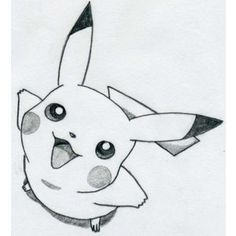 Image de drawing, pikachu, and pokemon Tumblr Drawings, Funny Drawings, Disney Drawings, Cartoon Drawings, Animal Drawings, Easy Drawings, Cartoons To Draw, Simple Pencil Drawings, Japanese Drawings