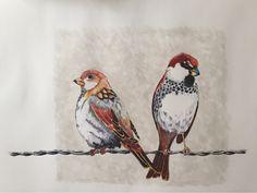Birds over wire