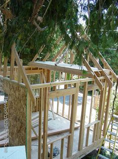 How to Build a Gorgeous She Shed, complete with link to step by step plans. Great for a home office, glorified garden shed or as an art / craft studio. Come see our photo album of building this one. Deck Plans, Shed Plans, Shed Design, Deck Design, Storage Shed Kits, Shed Construction, Laying Decking, Build Your Own Shed, Build A Playhouse