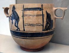 In Homer's Odyssey, while several female characters, both divine and mortal, are described in the act of weaving (and un-weaving), only two of them – Calypso and Circe – are depic… Mycenaean, Minoan, Greek Pottery, Pottery Art, Greek Crafts, Black Mountain College, Textiles Techniques, Greek Art, Dark Ages