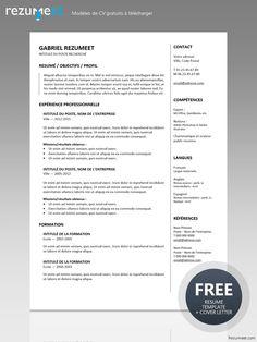 cv gratuit a telecharger format pdf