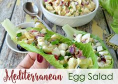 Gone are the days of boring egg salad. Not that I don't appreciation a good old-fashioned egg salad recipe, but it's fun to change things up sometimes too! The vegetables give great texture to this recipe, and serving it in lettuce cups keeps it fresh and light (and gluten-free). Any kind of olives will work, …