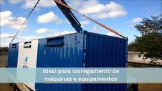 Caminhão Munck içando container   Locares