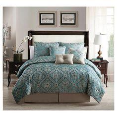Minerva 7 Piece Comforter Set - Blue