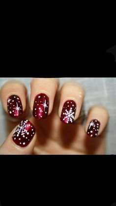 Get inspiration from the coolest nail art designs by using our app. Cute nail art designs with pictures of perfect manicure ideas. You can get an idea about nail art designs. Cute Nail Art Designs, Christmas Nail Art Designs, Winter Nail Designs, Cute Christmas Nails, Xmas Nails, Holiday Nails, Pearl Nails, Rhinestone Nails, Cute Nails
