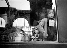Werner Bischof - A train of the Red Cross, transporting children to Switzerland, 1947; Magnum Portfolios