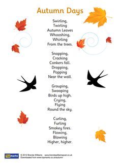 Autumn Days Poem