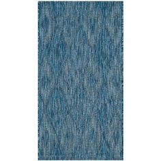 Courtyard Navy (Blue) 2 ft. x 3 ft. 7 in. Indoor/Outdoor Rectangle Area Rug
