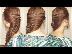 Mermaid Braid - I love how bohemian this looks! (and how easy it is, it is as easy as a simple braid =)