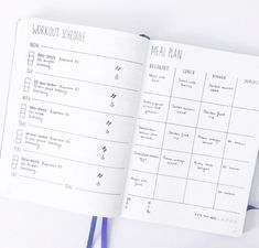 Bullet Journal Meal Plan, Bullet Journal Simple, Bullet Journal Workout, Minimalist Bullet Journal, Bullet Journal Page, Fitness Journal, Bullet Journal Spread, Fitness Planner, Bullet Journals