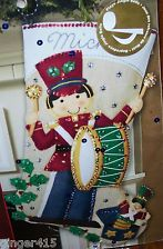 "Bucilla' ""TOY SOLDIER"" Felt Christmas Stocking  Kit (Musical) OOP Drummer NEW Felt Stocking Kit, Christmas Stocking Kits, Felt Christmas Stockings, Toy Soldiers, Toys, Holiday Decor, Ebay, Scrappy Quilts, Felting"