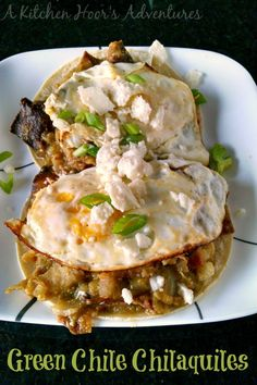 A tangy taste on the traditional, this Green Chile Chilaquiles will waken up your taste buds for sure!