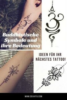Since Buddhist symbols carry a strong meaning in themselves, they are suitable for p … - Art Tattoo Yoga Tattoos, Baby Tattoos, Little Tattoos, Mini Tattoos, Finger Tattoos, Body Art Tattoos, New Tattoos, Cool Tattoos With Meaning, Small Symbol Tattoos