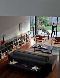 Modern living room connected to the garden