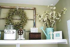 """I like the idea of a framed """"E"""" for the shelves above her dresser."""