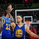 Curry leads Warriors to 50th win 102-92 over Hawks (Yahoo Sports)
