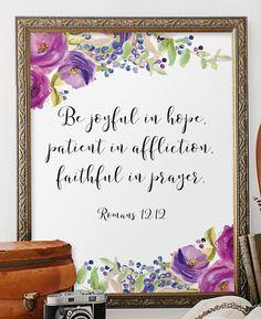 Bible verse Scripture print art Nursery bible by TwoBrushesDesigns