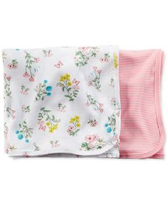 Carter's Baby Girls' 2-Pack Swaddle Blankets - Kids - Macy's