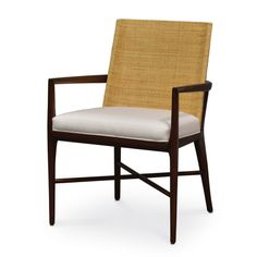 """HANOVER ARM CHAIR by PALECEKPlantation hardwood frame and legs in medium mahogany finish. Double wall back with close cane matting in a natural finish. Measurements: 24""""w x 24""""dp x 34""""h Suitable for Contract use."""