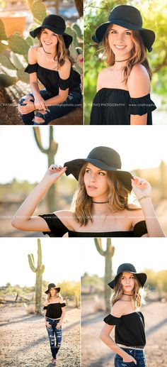 Arizona senior pictures with Anthem senior photographer, Criativo Photography, in the New River desert surrounded by saguaro cacti and a run down gas station.