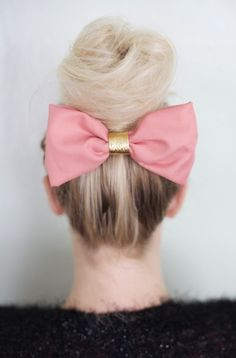 Large pink bow