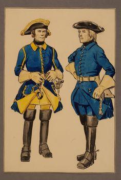 Provost and saddle maker at Västgöta regiment of horse early 1700's by Einar von Strokirch