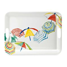 Stripes on the Strand 19.8-Inch Round Serving Tray