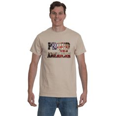 Inspirational Gift, Patriotic t-shirt, Motivational sayings Proud to be American Graphic tee. Adult tees, shirts for Men.