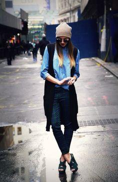 Uniqlo Pants  Joes JeansShirt   Urban RenewalVest   YSL Shoes