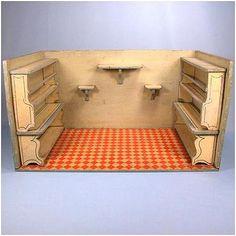 Antique Christian Hacker Kitchen Dollhouse Room Box c1900 - 1910  (by Rubylane)