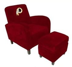 Use this Exclusive coupon code: PINFIVE to receive an additional 5% off the Washington Redskins Den Chair with Ottoman at SportsFansPlus.com