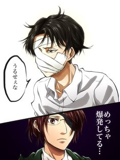Don't know if she understand what he said 😅 Hanji And Levi, Eren X Mikasa, Attack On Titan Funny, Attack On Titan Anime, Levihan, Ereri, Levi Ackerman, Anime Guys, Manga Anime