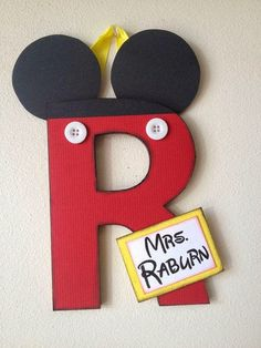Super-Duper Embellished Letters: cute & custom made for weddings teachers holidays birthdays Mickey Letter Mickey Mouse Classroom, Disney Classroom, Classroom Themes, Future Classroom, Infant Classroom, Classroom Design, Classroom Organization, Disney Gift, Disney Crafts