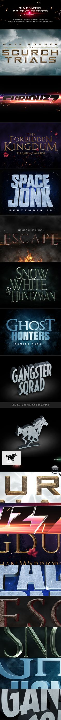 Cinematic Title Text Effects Vol 7
