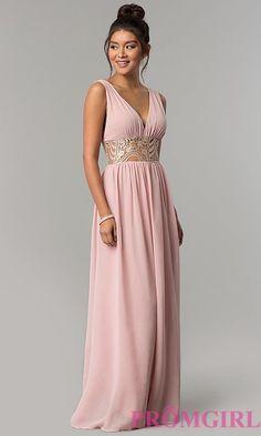 Grecian Style Wide Waist Long Prom Dress eb6072aef68d