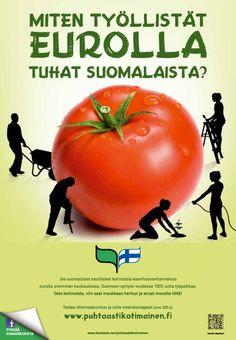 Puhtaasti kotimainen - Miten työllistät eurolla tuhat suomalaista? 2012 Vegetables, Food, Essen, Vegetable Recipes, Meals, Yemek, Veggies, Eten