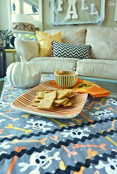 Coton Colors Swap Textiles and serving dish at thehappyhousie with a $50 Giveaway
