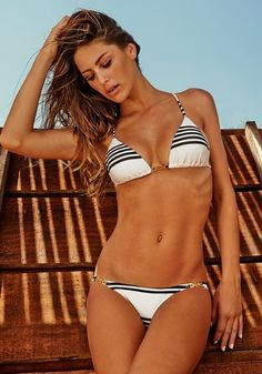 Vix Stripe Triangle Bikini | Beach Café UK