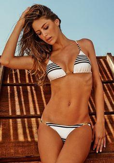 Vix Stripe Triangle Bikini | Beach Café UK