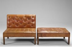 "Kaare Klint ""Addition"" Sofa and Footstool; at first glance nothing special but in fact it is the absence of all ""design attitudes"" that makes these pieces so beautiful..."