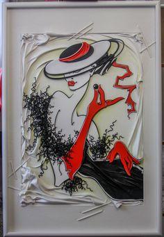 Картина из кожи ЧЕРНАЯ ЖЕМЧУЖИНА  Автор Андрей Коррбейников