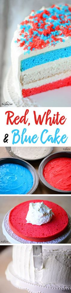 Can't get enough of this frosting and the cake was really easy to make for the 4th of July!