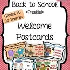 This Back to School *FREEBIE* contains 30 different welcome postcards. Send these postcards to your students at the end of the summer to get them excited for the new school year! Each set contains postcards for grades - The Center Based Classroom Back To School Night, Beginning Of The School Year, New School Year, First Day Of School, Starting School, School Daze, Sunday School, Activities For Boys, Back To School Activities
