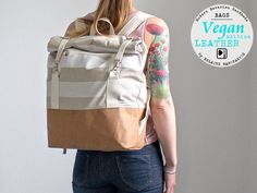 Großer Rucksack für die Reise aus veganem Leder / trendy and big travel backpack made of fake leather, wanderlust made by Belaine Manufaktur via DaWanda.com