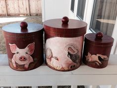 pig kitchen canisters pig paper towel holder for the kitchen 14548