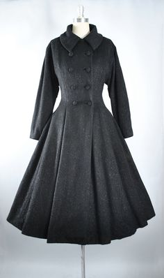 Vintage 40s 50s LILLI ANN Princess Coat / 1940s by GeronimoVintage
