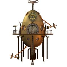 steampunk_tower_stock_by_mysticmorning-d4hlb01.png ❤ liked on Polyvore featuring steampunk
